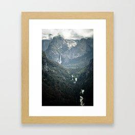 Waterfall in yosemite Framed Art Print