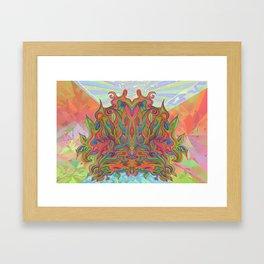 AlChemical - with landscaped background inc birds Framed Art Print