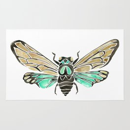 Summer Cicada – Mint & Tan Palette Rug