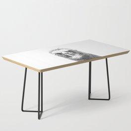 Black and White Alpaca Coffee Table