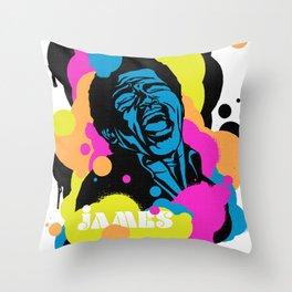 Soul Activism :: James Brown Throw Pillow