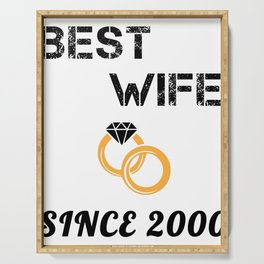 Wife 19th  Anniversary Gift, Women's Wedding Present Print Serving Tray