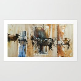 Ruidoso Wild Horses Art Print