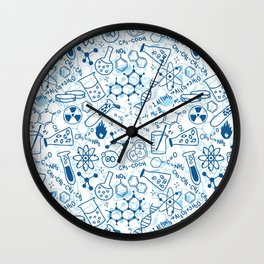 School chemical pattern #2 Wall Clock
