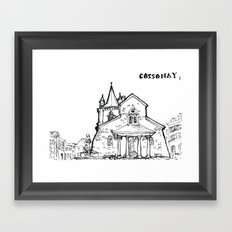 The church of sorrow: Cossonay Framed Art Print