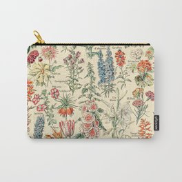 Vintage Floral Drawings // Fleurs by Adolphe Millot 19th Century Science Textbook Artwork Carry-All Pouch