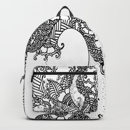 Unity of Halves - Life Tree - Rebirth - White Backpack