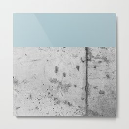 Color Block Concrete Metal Print