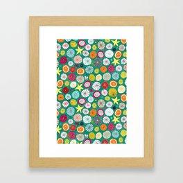 umbrellas jade Framed Art Print