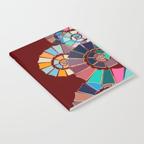 Spiral Symphony-Maroon Notebook