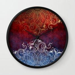 Mandala - Fire & Ice Wall Clock
