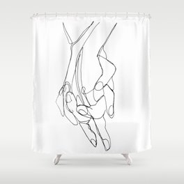 One Line Love Shower Curtain