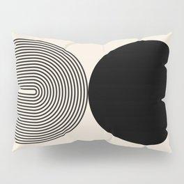 Abstraction_BLACK_DOT_LINE_ART_Minimalism_003C Pillow Sham
