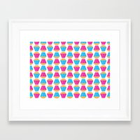 cupcakes Framed Art Prints featuring Cupcakes by Apple Kaur