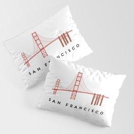 Golden Gate Bridge 2, San Francisco, California Pillow Sham