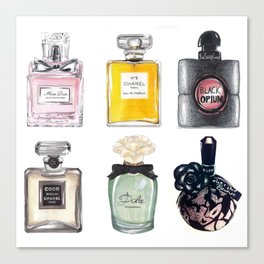 Perfume Collection Canvas Print