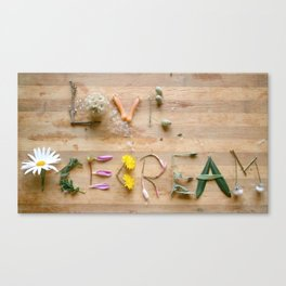 love  Ice cream  botanical messages Canvas Print