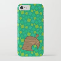 animal crossing iPhone & iPod Cases featuring Animal Crossing Spring Grass by Rebekhaart