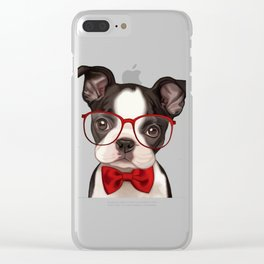 DOG/FUNNY Clear iPhone Case