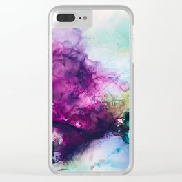 Eggplant Clear iPhone Case