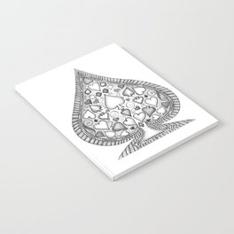 Ace of Spades Black and White Notebook