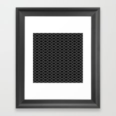 Small Black White and Gray Octagonal interlocking shapes Framed Art Print