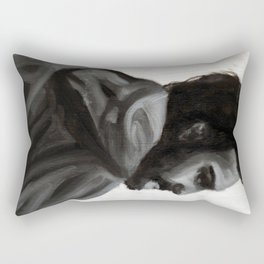 Monochrome Male Rectangular Pillow