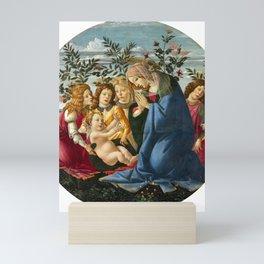 "Sandro Botticelli ""Madonna Adoring the Child with Five Angels"" Mini Art Print"