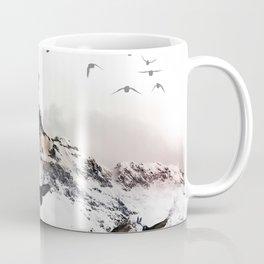 Crow Tree On A Snowy Mountain Coffee Mug