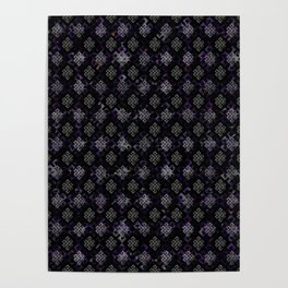 Endless Knot pattern - Silver and Amethyst Poster