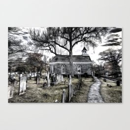 Sleepy Hollow Church Art Canvas Print
