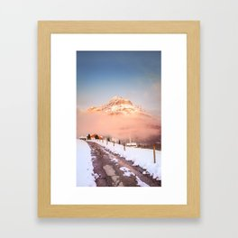 Follow the path Framed Art Print