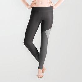 Gray Charcoal Geometric Pattern Leggings