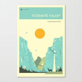 YOSEMITE NATIONAL PARK POSTER Canvas Print
