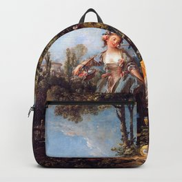 Lovers in a Park - Francois Boucher Backpack