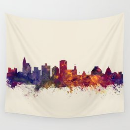 Jackson Mississippi Skyline Wall Tapestry