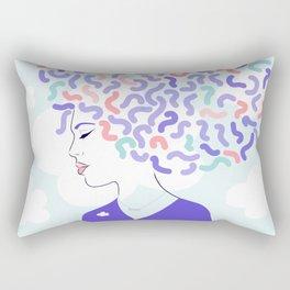 'Dream Big' Girl Power Portrait Rectangular Pillow