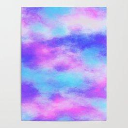 Pink & Blue Tie Dye Poster