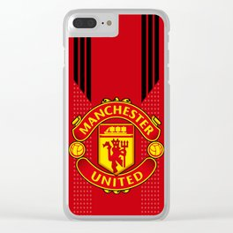MUFC LOGO Clear iPhone Case