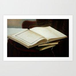 Books, acrylic on canvas Art Print
