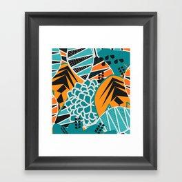 Leaf tropicana Framed Art Print