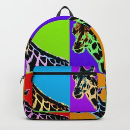 Poster with giraffe in pop art style Backpack