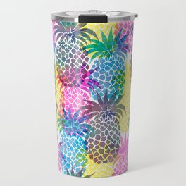 Pineapple CMYK Repeat Travel Mug