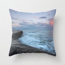 Sunset Over the Cobb Throw Pillow