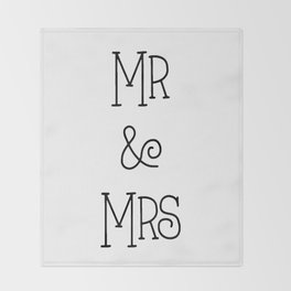 Mr &Mrs Throw Blanket