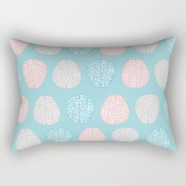 Pastel Brains Pattern Rectangular Pillow