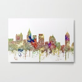 Atlanta, Georgia Skyline SG - Faded Glory Metal Print