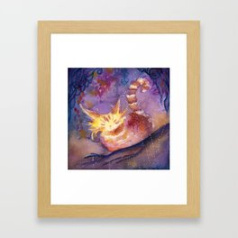 Glow in the Night Forest Framed Art Print