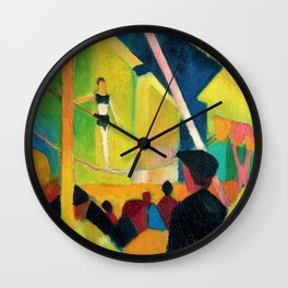 August Macke - Seiltanzer - Digital Remastered Edition Wall Clock