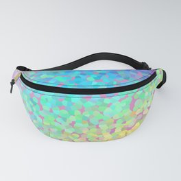 Pastel Rainbow Pointillized Design Fanny Pack